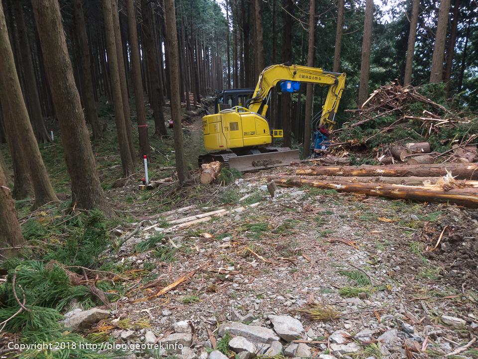 181003 三ノ塔尾根の伐採