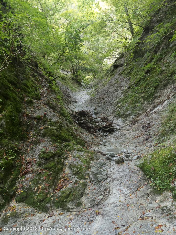181007 雨山峠への道は沢だった