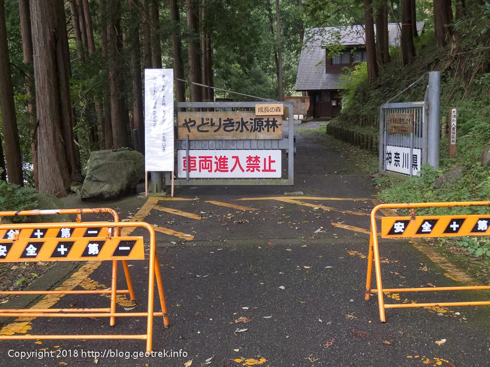 181007 道路の終点、水源林