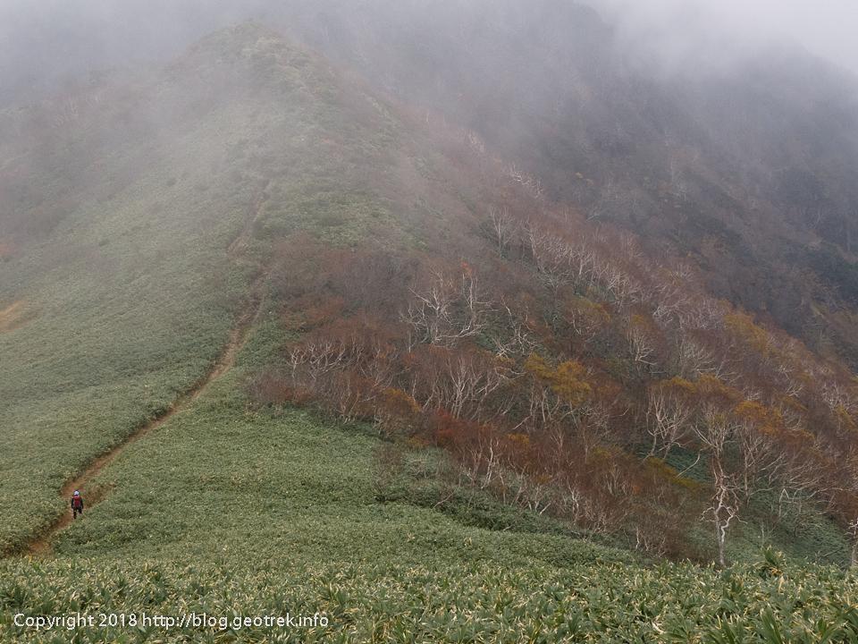 181013 笠ヶ岳から白毛門
