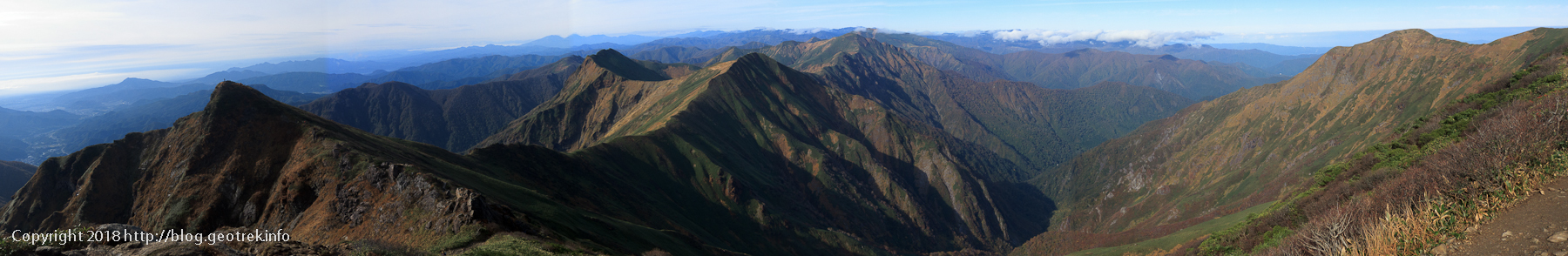 181013 オキノ耳から国境稜線