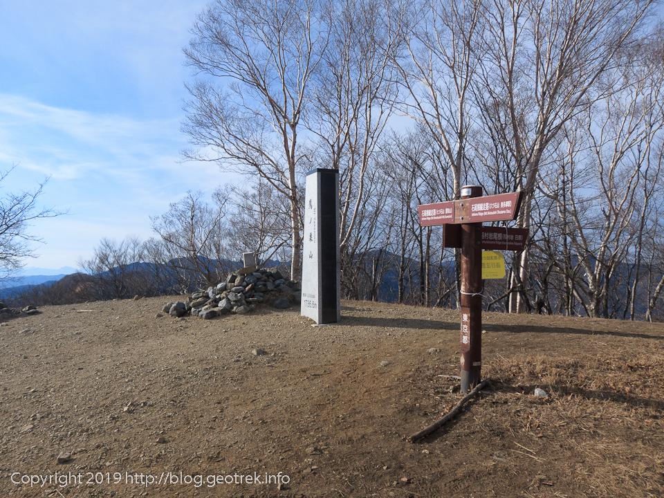 190119 鷹ノ巣山山頂