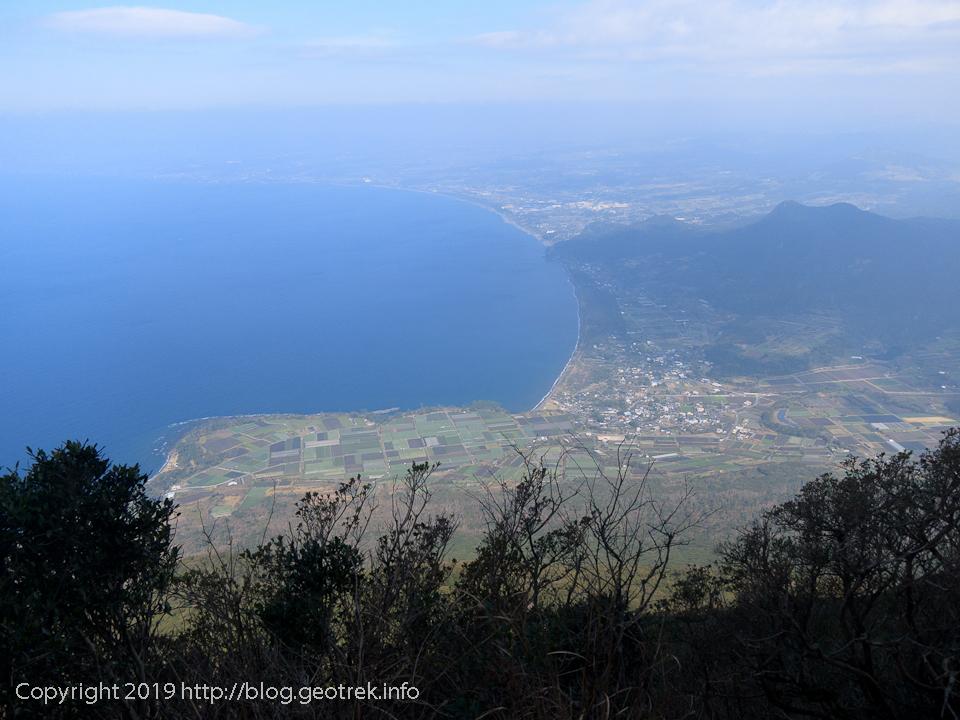 190223 開聞岳登山道から枕崎方面