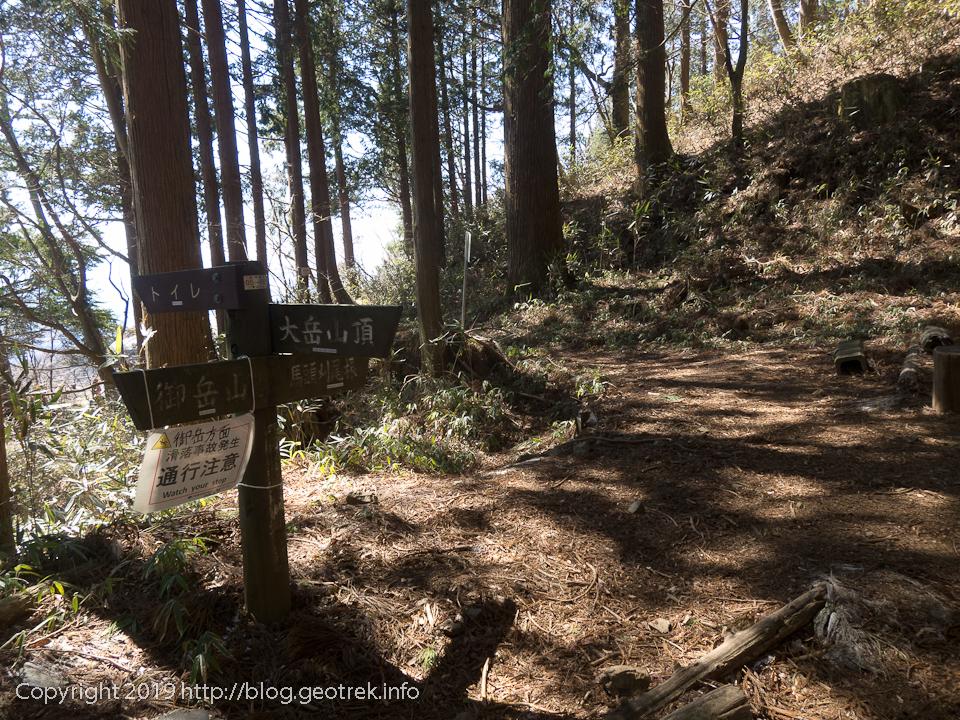 馬頭刈山への分岐