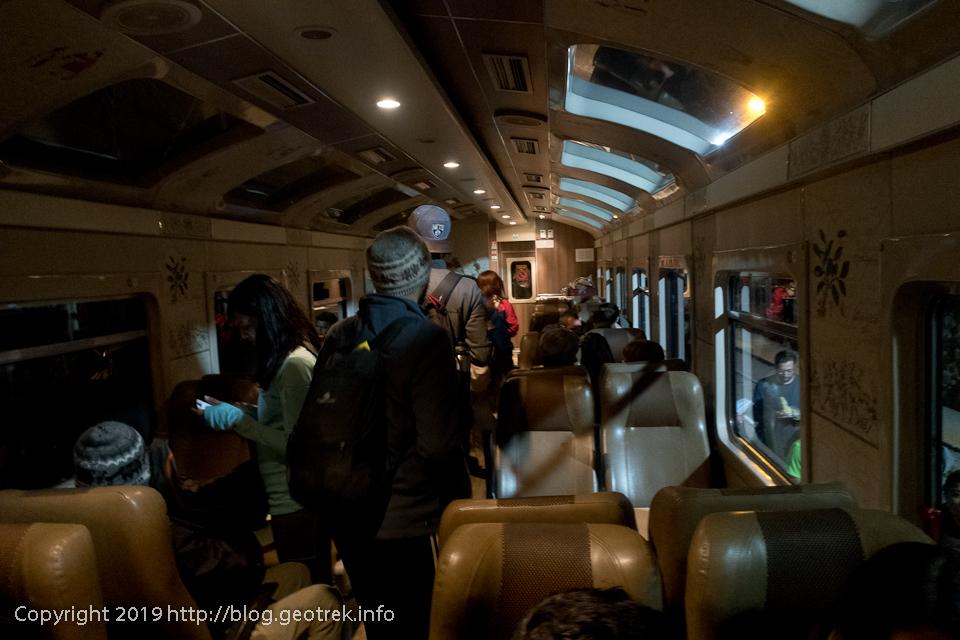 インカレールの列車に搭乗