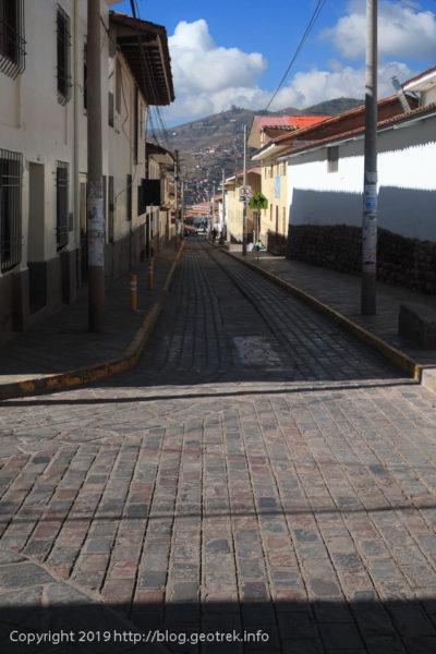 190502クスコの石畳の街