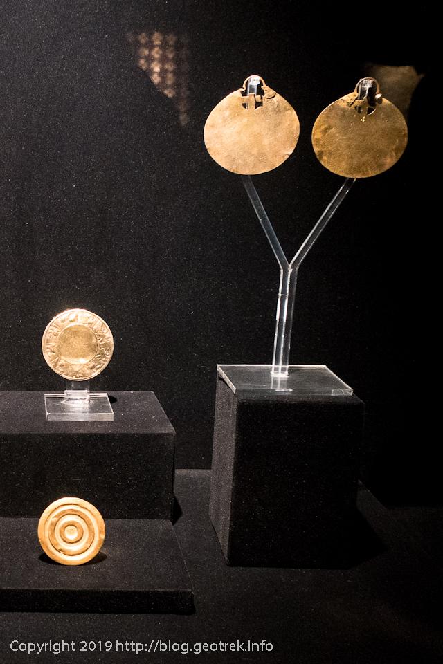 190502プレコロンビーノ博物館・金の耳飾り