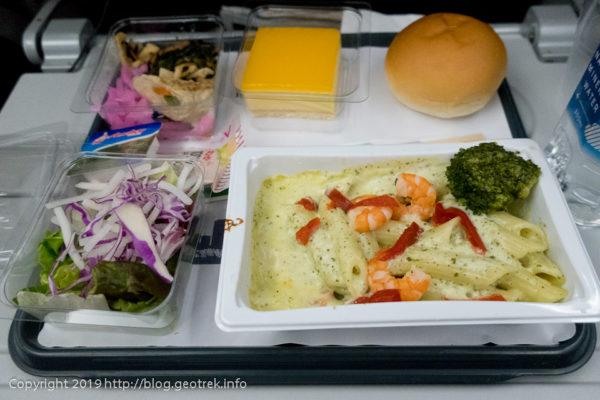 190426 アメリカン航空の夕食