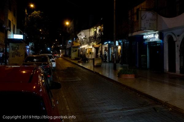 ナスカの夜のメインストリート