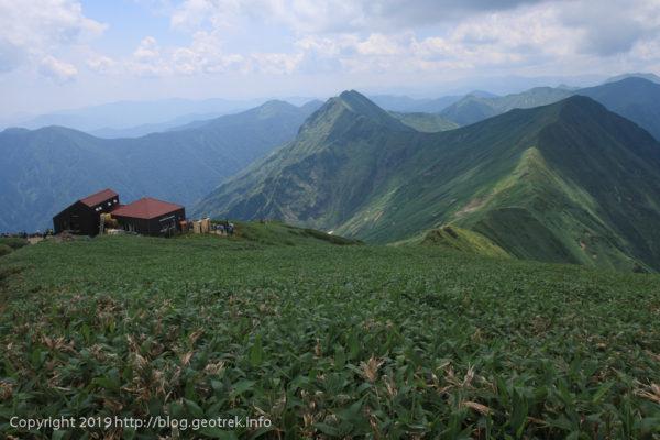 190803 トマノ耳から国境稜線