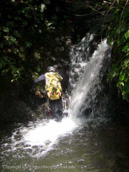 190824 ヒイラギ沢最初の滝