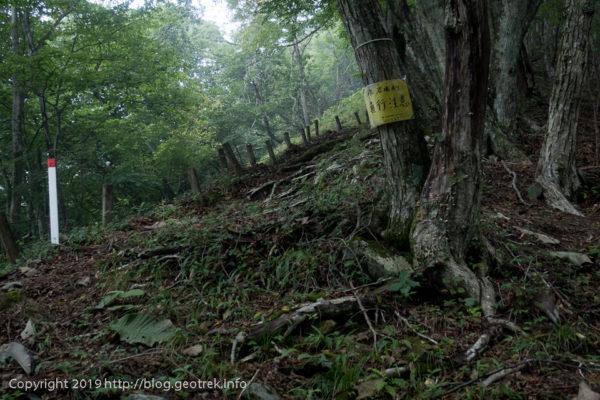 190901 ガレの急登の巻道