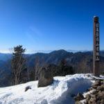 登り納め、雪の雲取山~鴨沢から雲取山