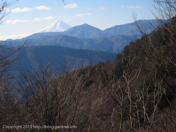 191229 登り尾根からの富士山