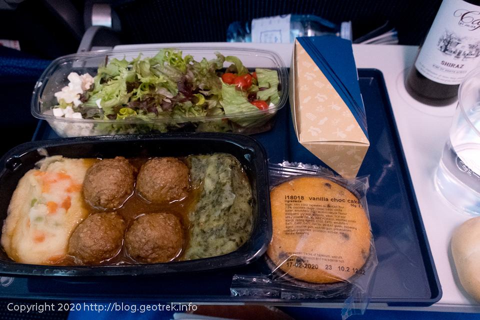 200116 3回目の機内食