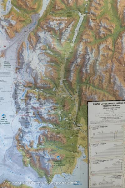 200120 エル・チャルテンのバスターミナルの地図