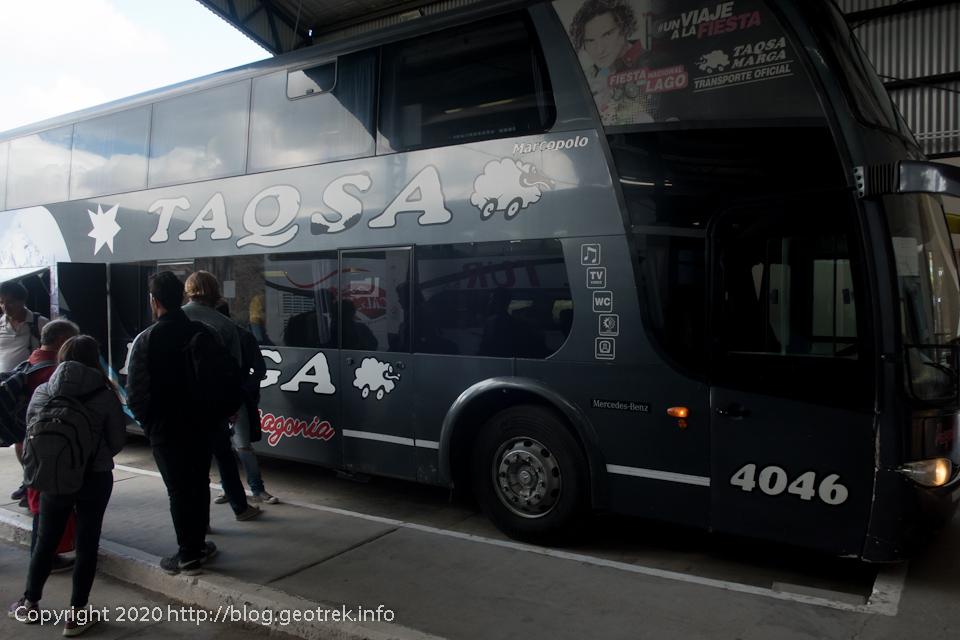 200120 エル・チャルテンでエル・カラファテ行のバスに乗る