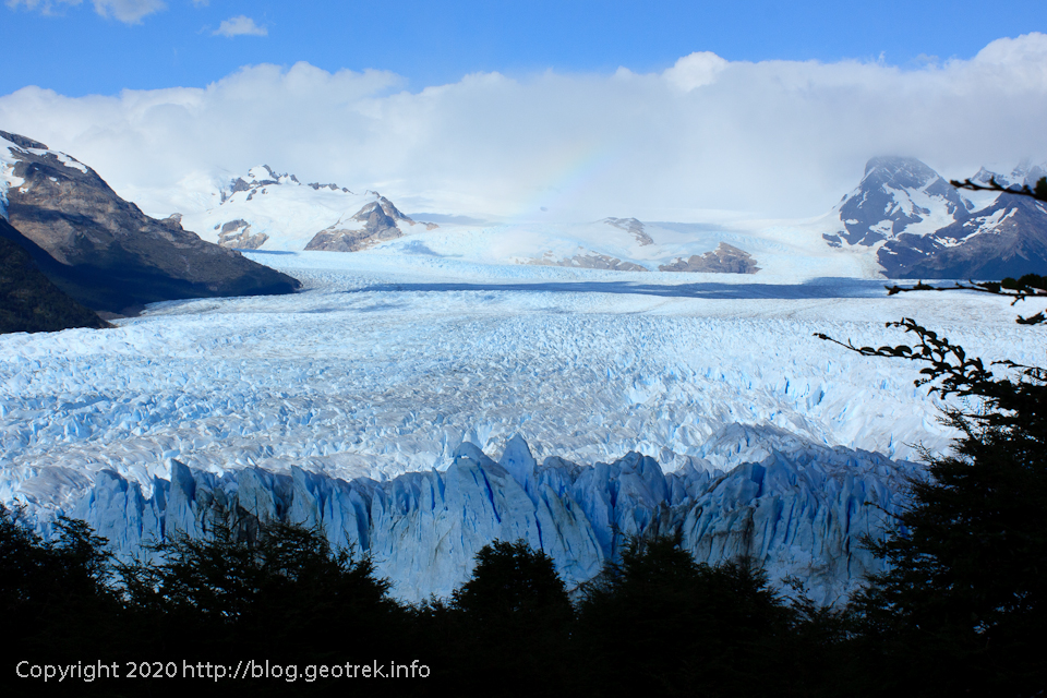 200121 ペリト・モレノ氷河展望台上部から