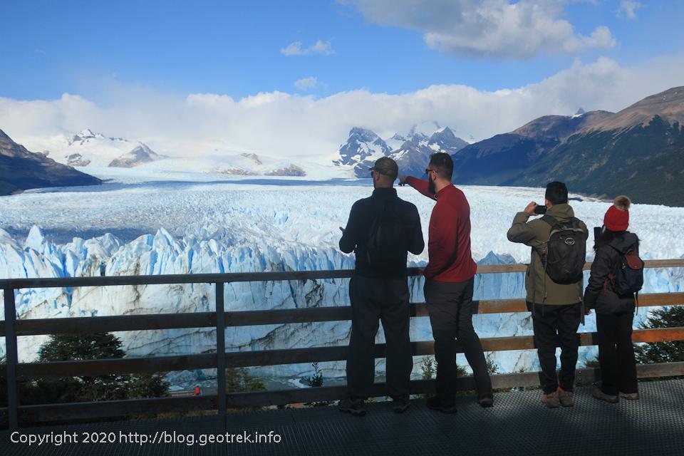 200121 ペリト・モレノ氷河、真ん中の展望台