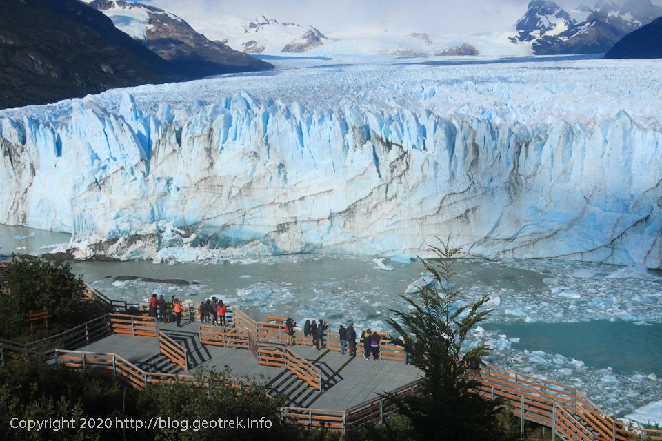 200121 ペリト・モレノ氷河、一番下の展望台