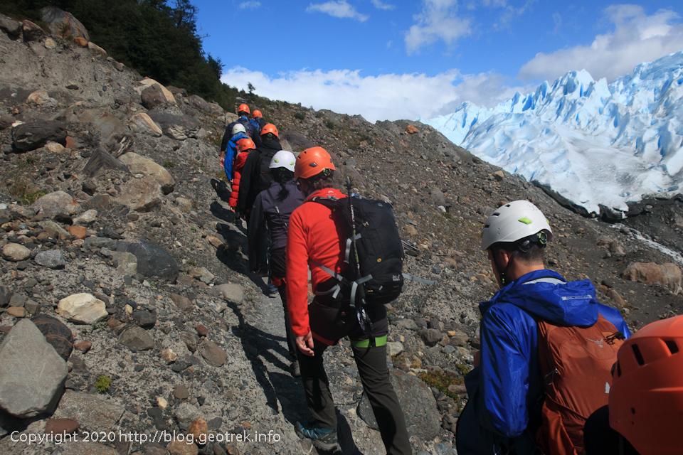 200121 ペリトモレノ氷河の上流に向かう