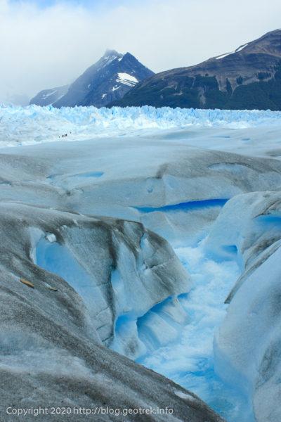 200121 ペリト・モレノ氷河トレック、氷河の上の激流