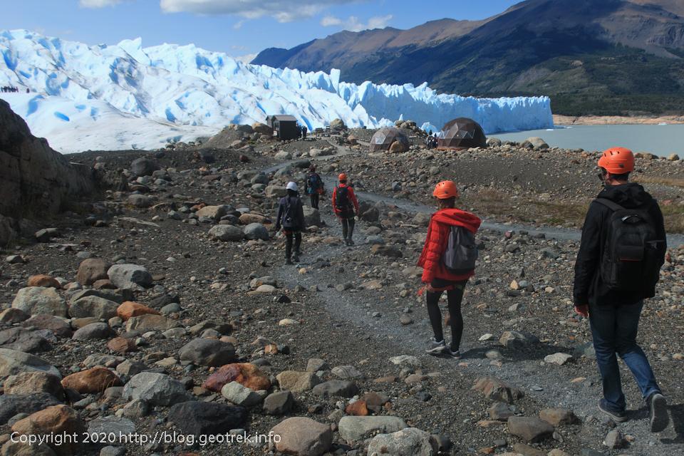200121 ペリト・モレノ氷河トレック、氷河の末端