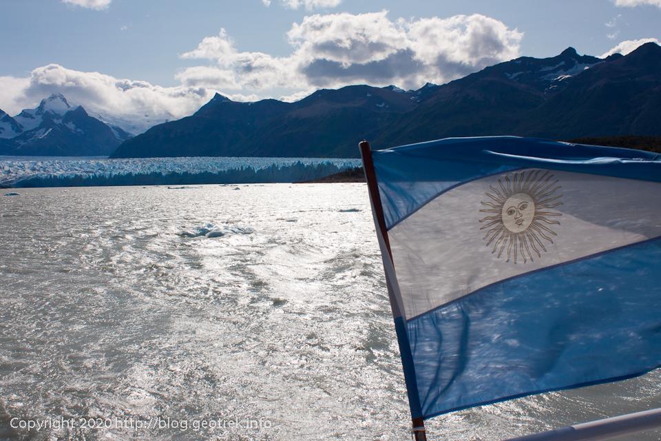 200121 船からペリト・モレノ氷河、だんだん小さくなる