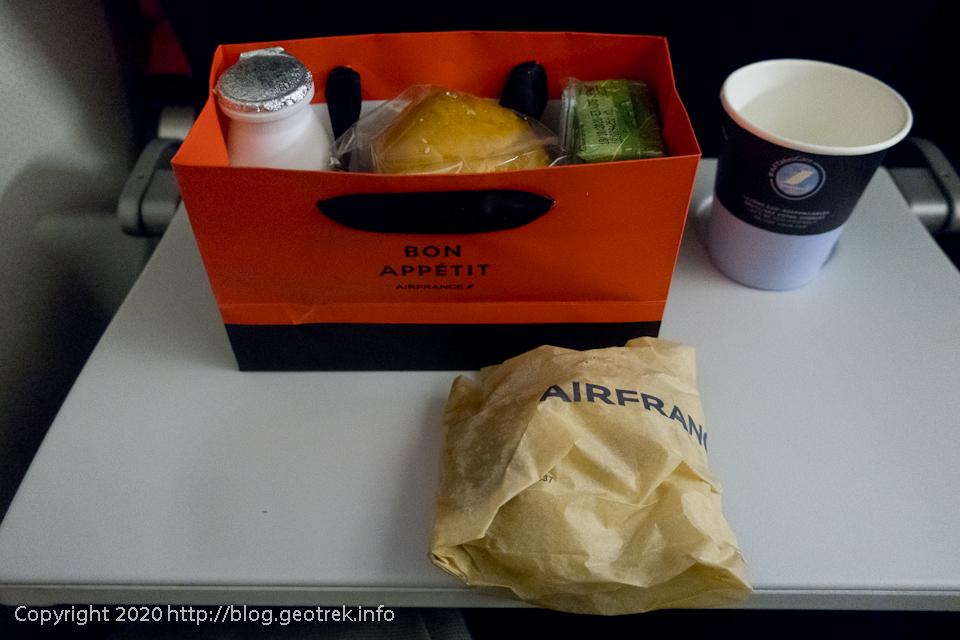 200127エールフランス機内食、朝食