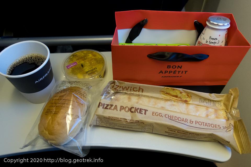 200128 エールフランス、2回目の朝食