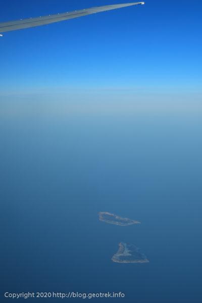 200128 空から見る焼尻島、天売島