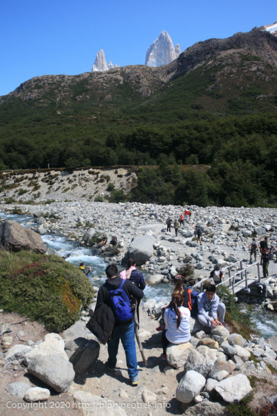 200118 フィッツロイ・トレッキング、ブランコ川