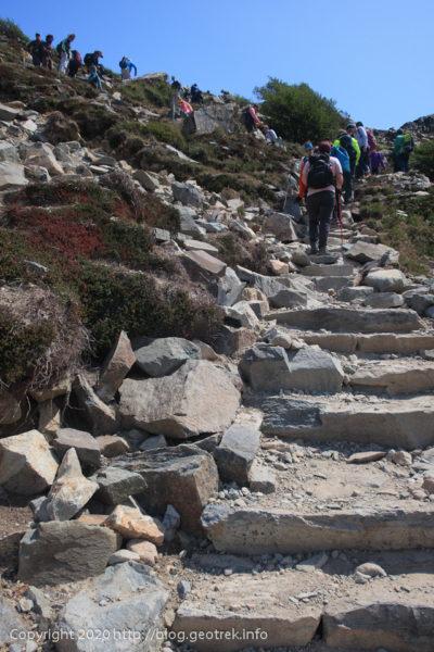 200118 フィツロイ・トレッキング、トレス湖への登り