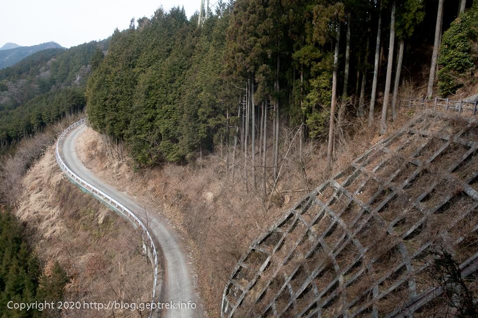 200215 林道に並走
