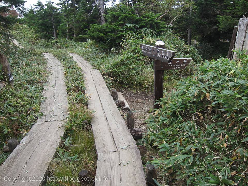 201004 笠ヶ岳分岐