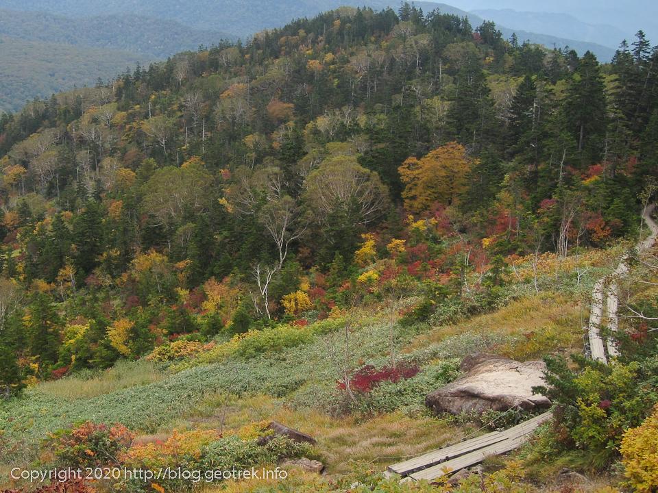 201004 至仏山の東斜面の紅葉は美しい