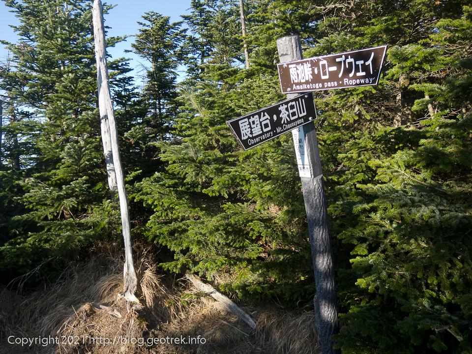 201031 縞枯山山頂