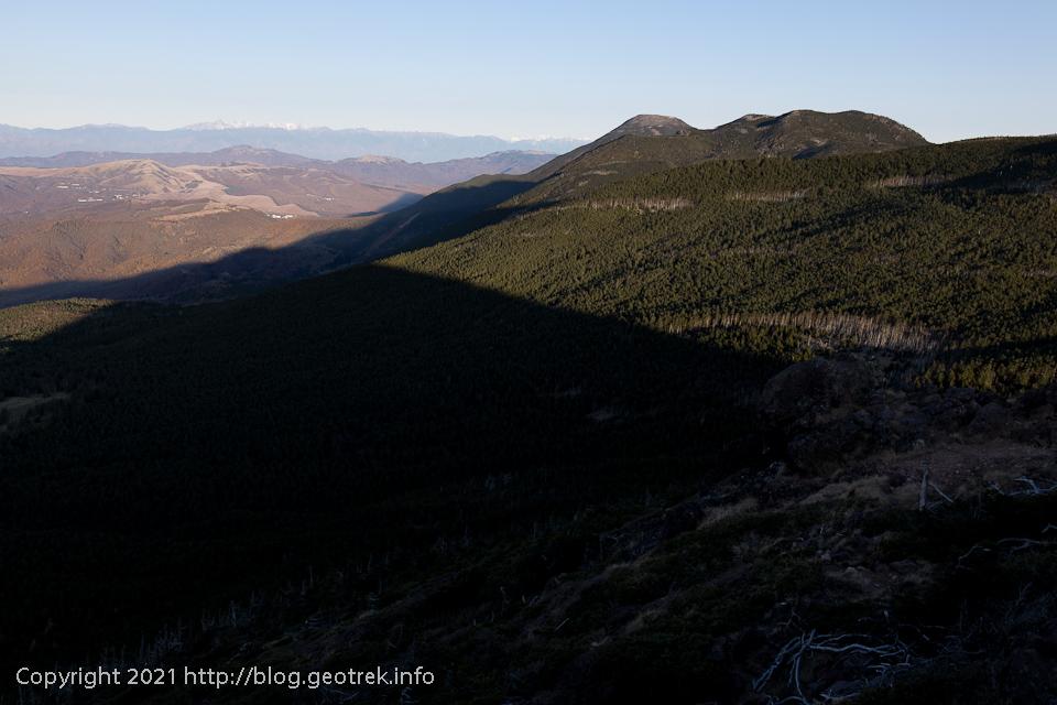 201031 茶臼山から蓼科山