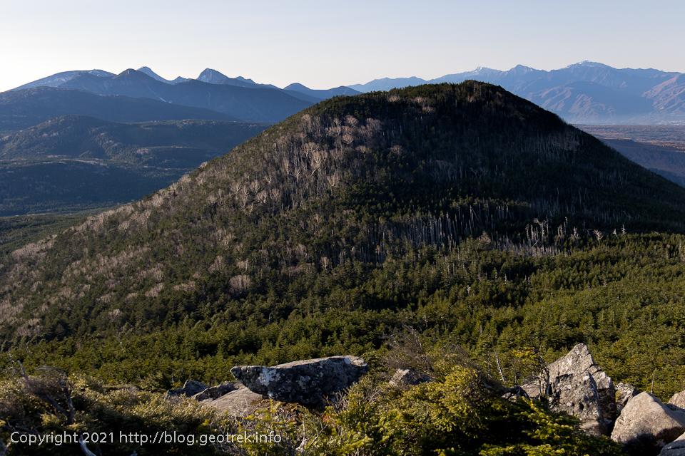 201031 縞枯山から茶臼山