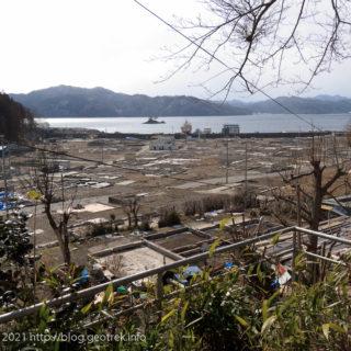 2012年2月 大槌町を見下ろす高台