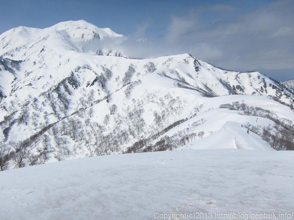 越後駒ケ岳へのルート