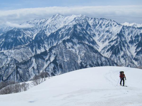 道雪山から荒沢岳