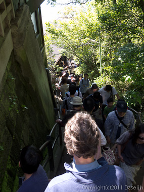 120505江ノ島ツーリング・遊歩道も大混雑