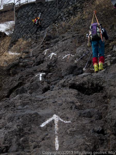 富士山、夏道を登る