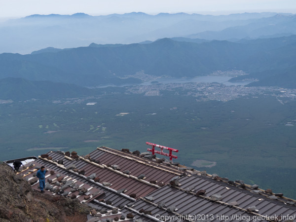 富士山小屋あけの準備