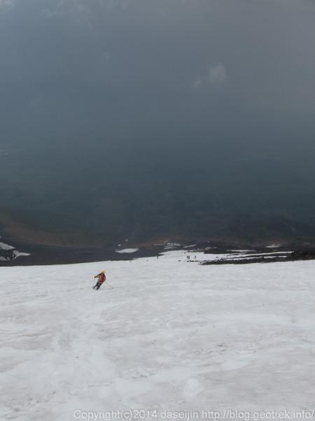 140531富士山、滑降