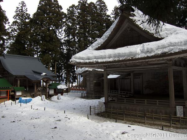120213世界遺産平泉・中尊寺能舞台