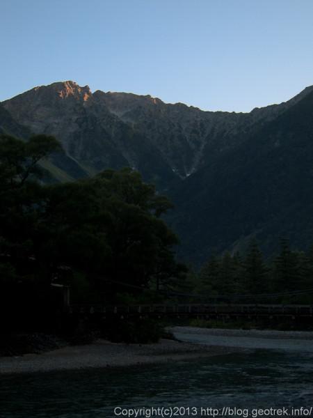 130920槍穂縦走、河童橋と岳沢