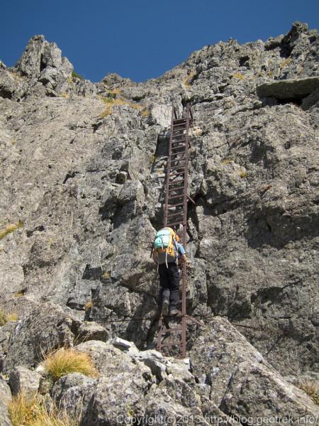130921槍穂縦走、南岳の登り