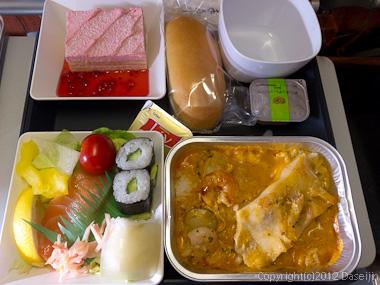 120803アイスランド、グリーンランドの旅・機内食